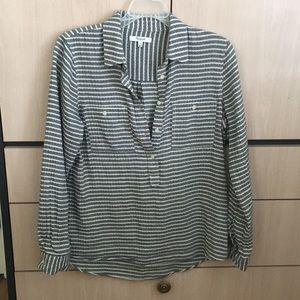 Half button blouse